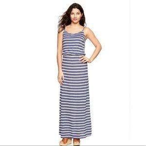 LIGHTLY WORN GAP striped maxi dress